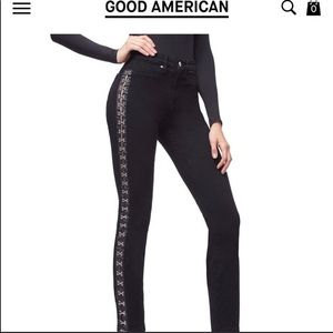 Good American Good Waist Hooked On You Black Jeans